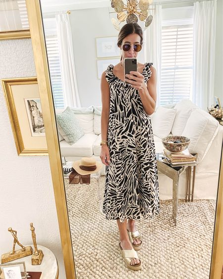 😎 $19 super versatile dress…easy to throw on and go for Summer. Comes in 6 colors! Dress it up or throw on over a swimsuit ✌🏻 shop it all via the @liketoknow.it app or head to stories for a swipe up. http://liketk.it/3iNZV #liketkit #LTKunder50 #LTKswim #LTKstyletip ruffle dress, summer dress, bathing suit coverup