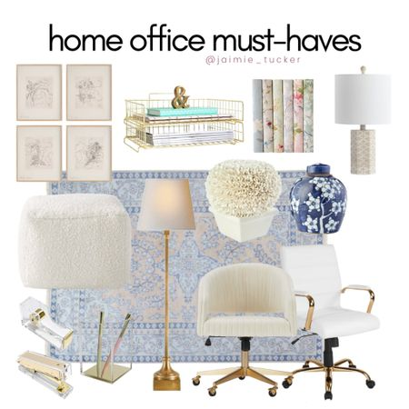 Check out these awesome at home office must-haves. From decor, furniture, stationary items and more. | #homeoffice #officemusthaves #homeofficeessentials #officeessentials #officedesk #officechair #officedecor #homedecor #bestsellers #JaimieTucker  #LTKhome #LTKstyletip