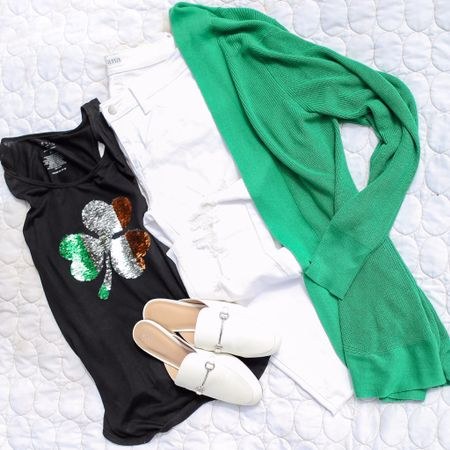 What to wear for St. Patty's Day? I'll be sharing a few cute looks to get you outfit ready!   What do you have planned?   You can instantly shop my looks by following me on the LIKEtoKNOW.it app OR go to CebtsibleBlonde.com to see outfit details! (LINK IN BIO!)     http://liketk.it/2At9M #liketkit #LTKunder50 #LTKsalealert #LTKshoecrush #LTKstyletip #LTK #liketoknowit #ltkholiday #ltkstyle @liketoknow.it #ltkholidaystyle
