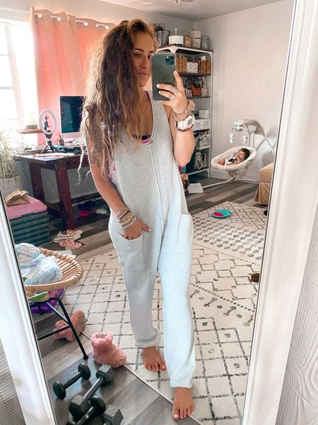 Wearing XS here!!!  Love this Hailee jumper from free people. This is the ivory set.   #LTKstyletip #LTKunder100 #LTKfit