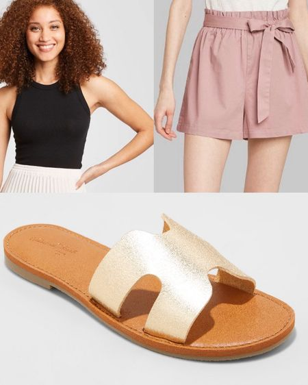 """Target Tuesday! RUN and get these sandals while they last.. only $15!! Available in wide as well. This entire outfit is under $40. My all time favorite tank is also on sale. Perfect summer BBQ outfit .. if we ever go to a BBQ again 😬😉. Link in Bio """"Like to know it""""   http://liketk.it/2OkaG #liketkit @liketoknow.it"""