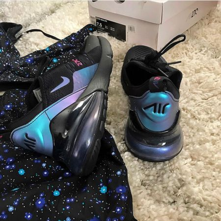 Nike Air Max 270 Throwback Future Galaxy Screenshot this pic to get shoppable product details with the LIKEtoKNOW.it shopping app http://liketk.it/2JLh0 #liketkit @liketoknow.it