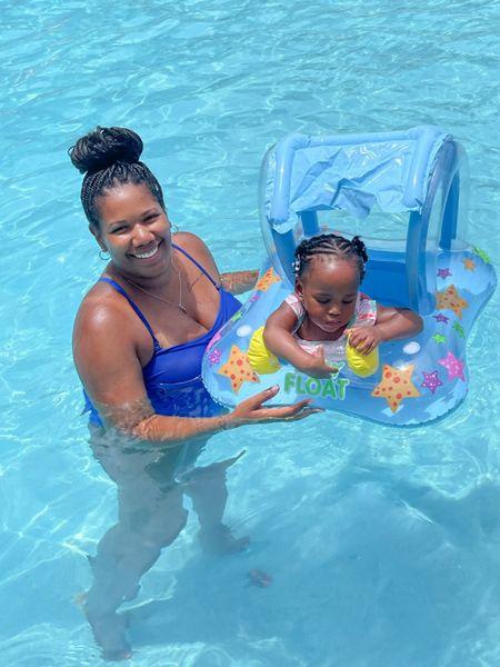 Pool day 💙  #LTKtravel #LTKunder50 #LTKbaby