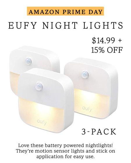 Eufy night lights // Amazon prime day finds // only $15 + 15% off coupon #LTKhome #LTKsalealert #LTKunder50 #liketkit @liketoknow.it http://liketk.it/3i53b