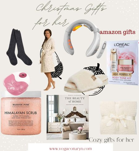 Christmas amazon gift guide for her , barefoot dreams ,cozy gifts , amazon gift guides   #LTKHoliday #LTKGiftGuide #LTKunder50