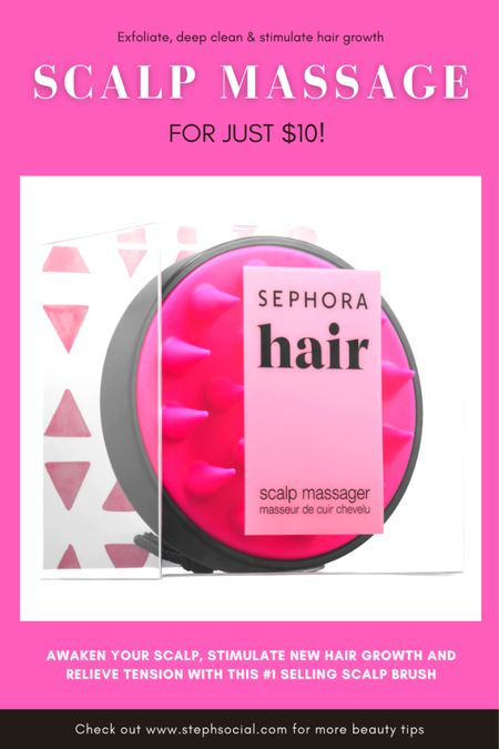 This feels SOO GOOD on your head! Relieves tension, removes dry shampoo build up, exfoliates and STIMULATES NEW HAIR GROWTH! ALL THAT FOR JUST $10! Plus right now if you spend $50 at Sephora, you get a sample pack FULL of amazing brand samples! So, what are you waiting for? #hairtips #sephoradeals #beautytips   #LTKstyletip #LTKunder100 #LTKbeauty