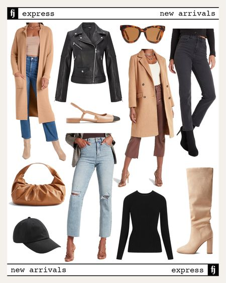 Express new arrivals for fall #falloutfots #camelcoat #express