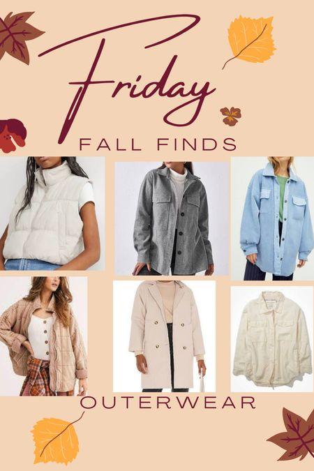 Fall outerwear! #fall #jacket #vest #outerwear  #LTKSeasonal #LTKbacktoschool