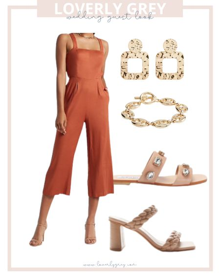 Loverly grey wedding guest look. The back of this jumpsuit is so cute too!   #LTKstyletip #LTKDay #LTKwedding