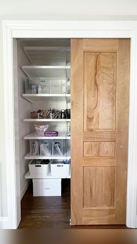 Transformed guest room / office closet! #elfa #closetorganization #homeorganization #storage   #LTKsalealert #LTKfamily #LTKhome