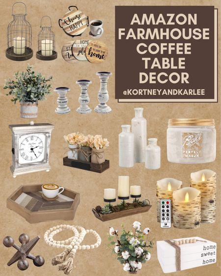Farmhouse Coffee Table Decor from Amazon!  Amazon farmhouse decor | amazon farmhouse home decor | farmhouse decor from amazon | amazon home decor | affordable farmhouse decor | affordable farmhouse home decor | farmhouse home decor | amazon finds | amazon home finds | amazon home favorites | coffee table decor | amazon coffee table decor | Kortney and Karlee | #Kortneyandkarlee @liketoknow.it #liketkit  #LTKunder50 #LTKunder100 #LTKsalealert #LTKstyletip #LTKSeasonal #LTKhome