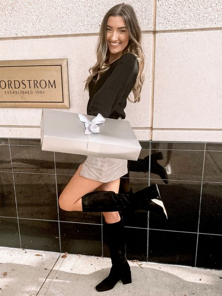 My favorite black suede boots are now on sale for under $100 and the bootie version is on sale for under $70!   #LTKshoecrush #LTKSeasonal #LTKunder100
