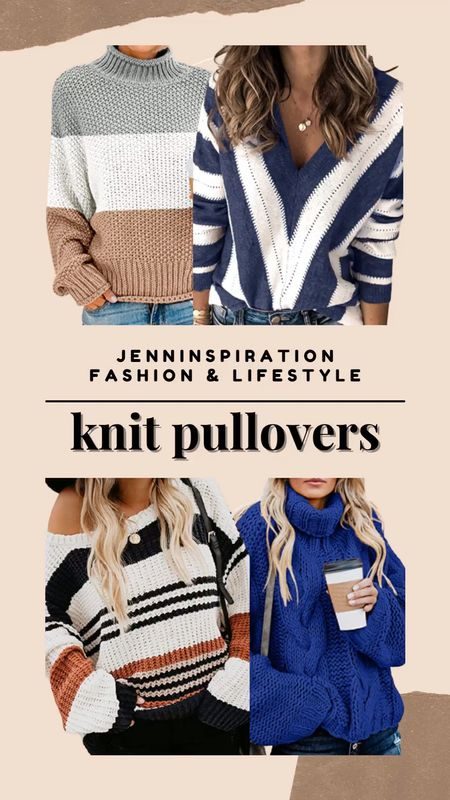 Knit sweater pullovers from Amazon! All under $40. Great for styling with jeans, leggings, and a pair of boots for fall season   #LTKstyletip #LTKSale #LTKsalealert