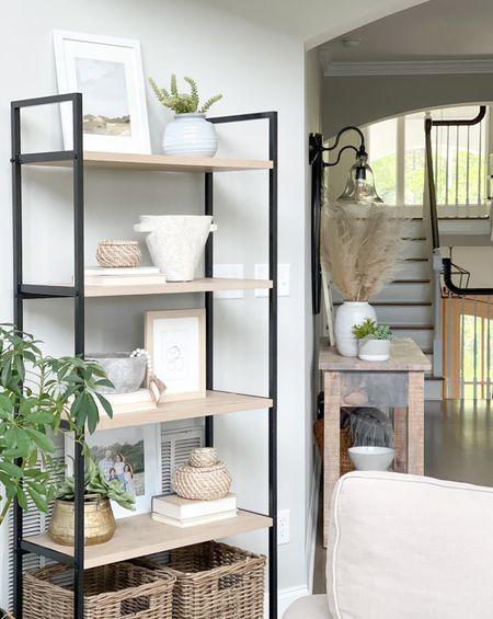 Shelf decor Shelfie Shelf styling Living room decor Coastal decor Modern coastal Neutral style Target style