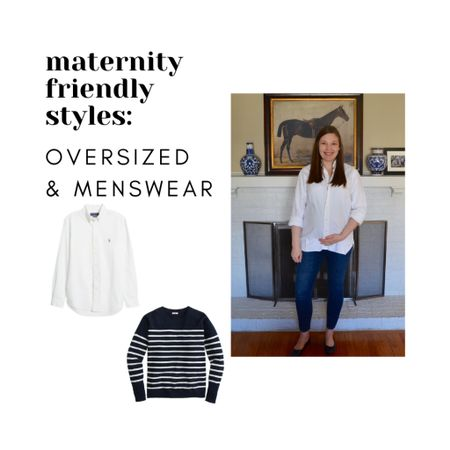 Maternity Style- Oversized fit & Menswear Non-maternity pieces for during and after pregnancy   #LTKbump #LTKunder100 #LTKstyletip