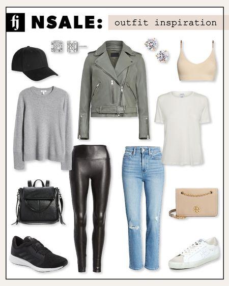 Outfit inspo for the #nsale ALLSAINTS leather jacket. Love how versatile this piece is! #nordstromanniversarysale #nordstrom #nordstromsale #anniversarysale #fashionjackson  #LTKsalealert #LTKunder50 #LTKunder100