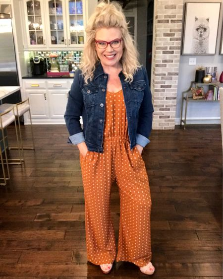 Jumpers are this nation's backbone. For moms, anyway 😂 I absolutely love how easy they are. You just have to grab ONE item in your closet to feel super put together. I added a jean jacket to this outfit and it makes me feel like supermom. 😍😂👏🏼 I linked a few other jumpers I have my eye on! http://liketk.it/2Cv0E #liketkit @liketoknow.it
