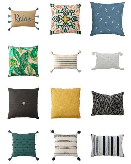 Outdoor Pillows from Walmart. Patio decor.     http://liketk.it/3eXig @liketoknow.it #liketkit #LTKhome #LTKstyletip #LTKunder50