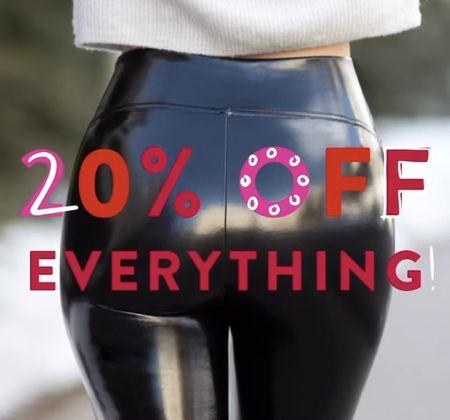 20% off everything at Spanx! Size up one in Spanx leggings! Spanx sale, gifts for her, Black Friday, splurge gifts, Spanx faux leather leggings on sale, flash sale   #LTKsalealert #LTKgiftspo #LTKunder100