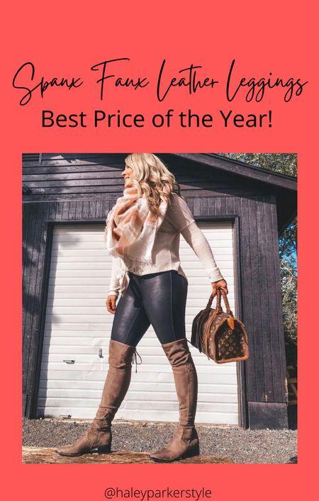 Spans faux leather leggings size medium sale   #LTKworkwear #LTKunder100 #LTKsalealert