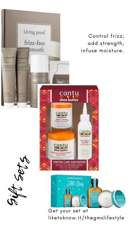 Curly hair gift sets, including moisturizing gift sets, protein strengthening treatments, and frizz control.  @liketoknow.it http://liketk.it/31F33 #liketkit #LTKgiftspo #LTKsalealert #LTKunder50 #LTKunder100 #LTKbeauty #curlyhair #naturalhair #curlyhairgifts #naturalhairgifts