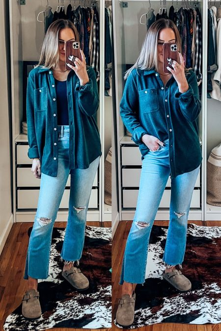wearing s in all thread supply, size up one in jeans, clogs are TTS!    #LTKunder100 #LTKSeasonal #LTKshoecrush