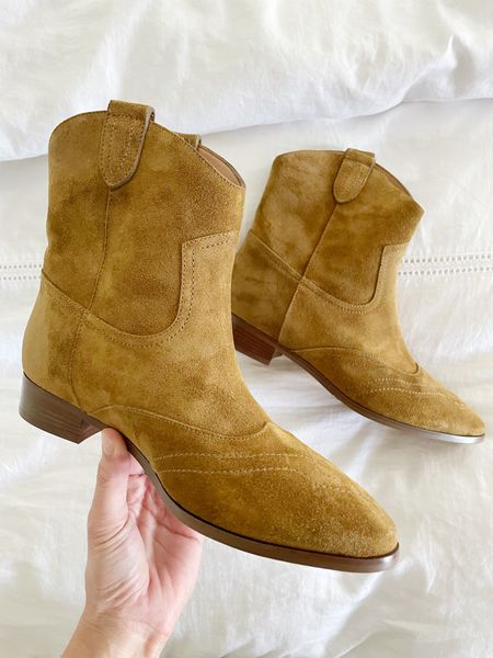 So excited to wear the short suede boots! Perfect with dresses now and jeans + sweaters come fall! Run TTS  #LTKSeasonal