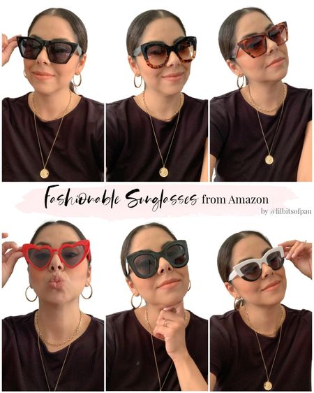 Amazon fashion sunglasses, amazon sunnies under $20, look for less sunglasses, heart shaped sunnies  #LTKGiftGuide #LTKstyletip #LTKunder50