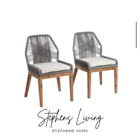 Loving these dining room chairs. They are the perfect dupe for the higher end version.  . . . Dining room, chairs, woven chairs, rope chairs   #LTKhome #LTKsalealert