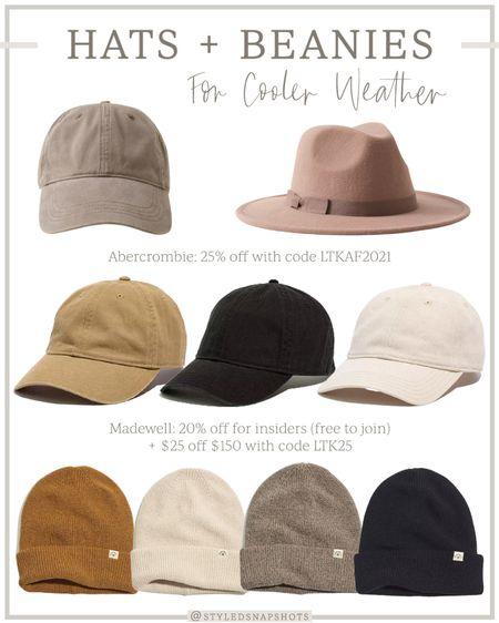 Hats + Beanies for cooler weather   #LTKSale #LTKSeasonal #LTKunder50