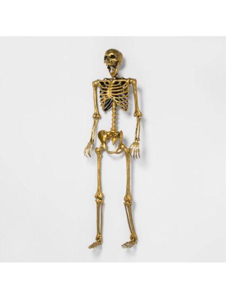 Gold skeleton, Halloween decor, target finds  #LTKhome #LTKHoliday #LTKfamily