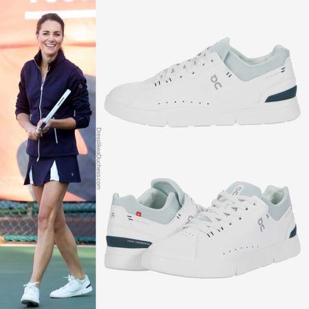 Kate wearing Roger Advantage Sneakers in juniper #shoes #tennis #sporty #fitness #exercise   #LTKstyletip #LTKshoecrush