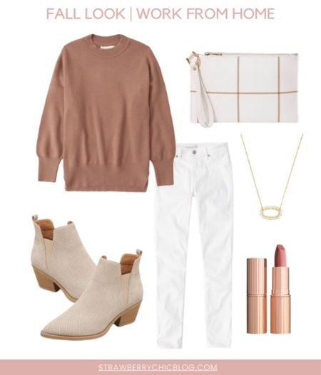 This adorable sweater and jeans are the perfect combination for a fall day working from home.   #LTKstyletip #LTKworkwear #LTKSeasonal