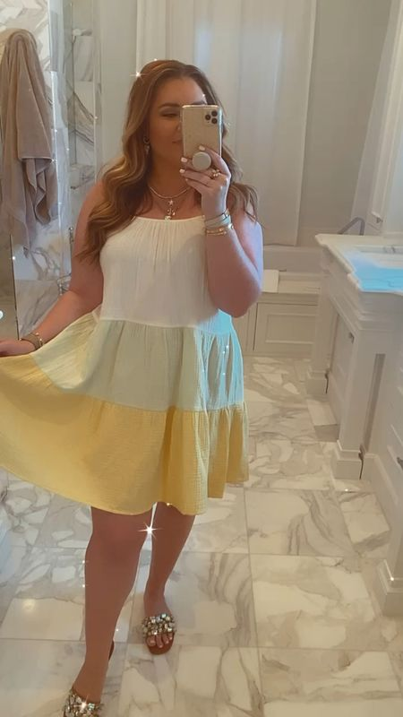 Walmart summer dress, Steve Madden sandals, Kendra Scott jewels.   #LTKunder50 #LTKshoecrush #LTKtravel