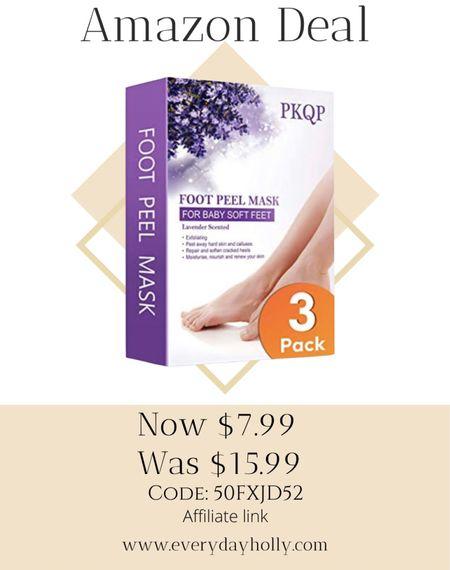 Amazon deal! 🦶💗 3 Pack Foot Peel Mask-Natural Exfoliation Foot Peel for Dry Dead Skin, Callus, Repair Rough Heels Lavender Foot Masks Make Your Feet Baby Soft 50% off Code: 50FXJD52    #LTKunder50 #LTKsalealert #LTKbeauty