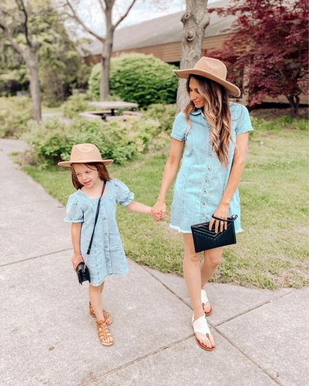 It's Twinning Tuesday!  How CUTE is this mini denim dress that Quinn is wearing?! Don't know how many more years this girl will still let me match her but I hope it never ends. 😍  Download the LIKEtoKNOW.it shopping app to shop this pic via screenshot   @liketoknow.it @liketoknow.it.family #LTKstyletip #LTKkids #LTKfamily #liketkit http://liketk.it/3fx31