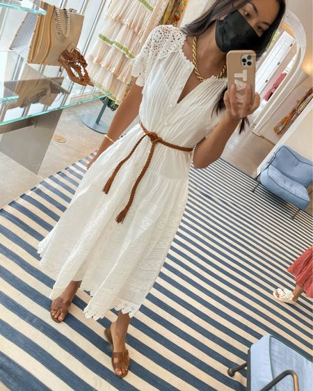 Exact dress is sold out, but linked similar white dresses below!