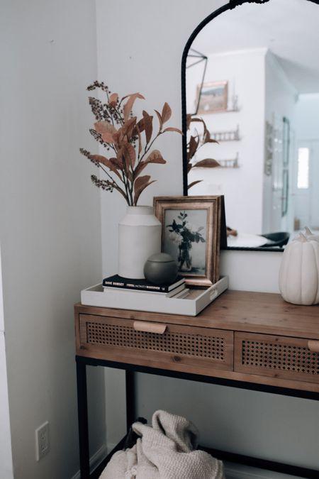 Console table, fall console table decor, entryway fall decor, entryway decor, cute console table #homedecor #consoletable  #LTKhome #LTKsalealert