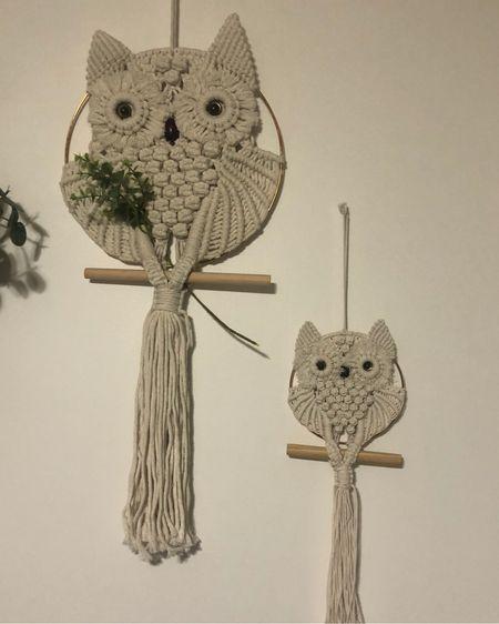 Macrame owls for gender neutral baby nursery http://liketk.it/3eYqn #liketkit @liketoknow.it #LTKbaby #LTKunder50 #LTKhome
