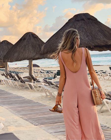 Perfect beach one piece outfit. Love this Rotan circle bag and these beek finch sandals http://liketk.it/2zSoj #liketkit @liketoknow.it