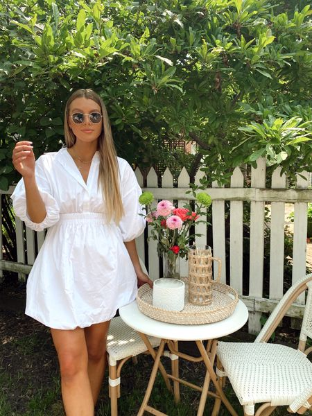 neutral style, white free people dress, summer and print style, fashion inspo, outdoor, Memorial Day weekend, white dress backyard party inspo, patio, target and homegoods haul, styling, home decor, home style   #LTKunder50 #LTKSeasonal #LTKstyletip
