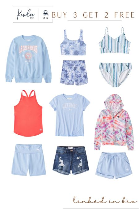 Abercrombie kids is having a HUGE Buy 3 Get 2 FREE SALE! Kids summer clothing is on sale with the cutest outfit options. Tagging our favorites for summer!  http://liketk.it/3g9n5 #liketkit @liketoknow.it   #LTKfamily #LTKkids #LTKunder50