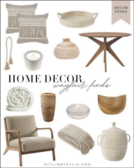 Home decor, wayfair finds, wayfair decor, house decor, neutral home decor, living room decor, StylinByAylinHome  #LTKunder100 #LTKstyletip #LTKhome