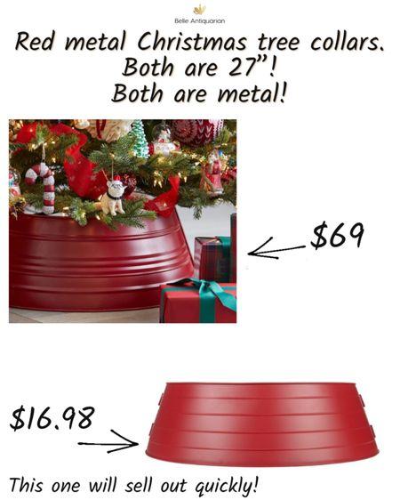 Red metal Christmas tree 🎄 collars!   #LTKhome #LTKGiftGuide #LTKHoliday