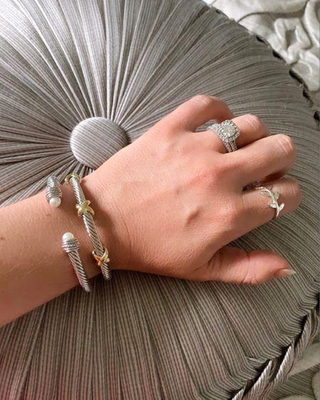 Layered bracelets/ silver bangles http://liketk.it/2QL5y #liketkit @liketoknow.it #LTKsalealert #LTKstyletip #LTKunder50