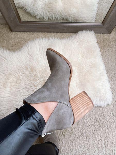 Nordstrom Anniversary Sale | Steve Madden Ankle Suede Boots in Grey Suede | wearing size 8   #LTKunder100 #LTKsalealert #LTKstyletip