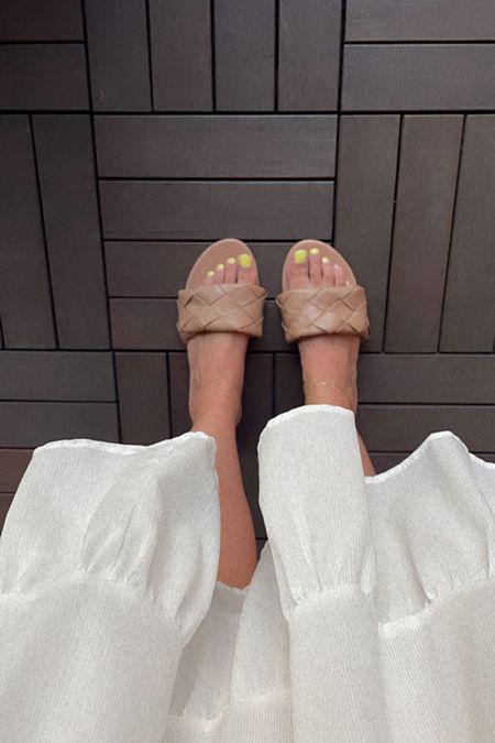 woven sandal slides #wovensandals #slides  #LTKunder50