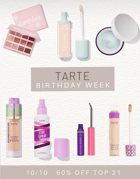 50% off best sellers at Tarte!  Use code BDAY  #LTKunder50 #LTKsalealert #LTKbeauty
