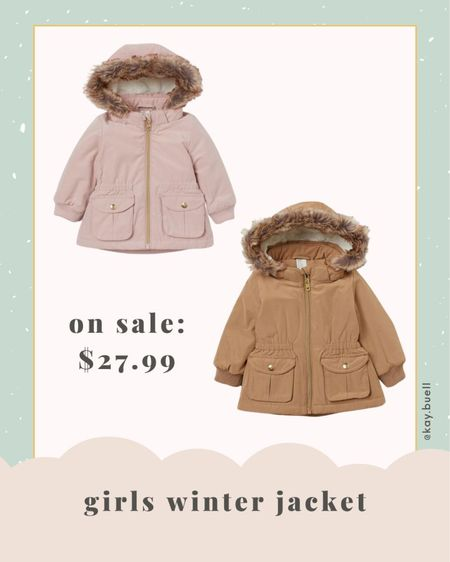 The cutest parka for toddler girls! Got this for Riley in pink!   #LTKkids