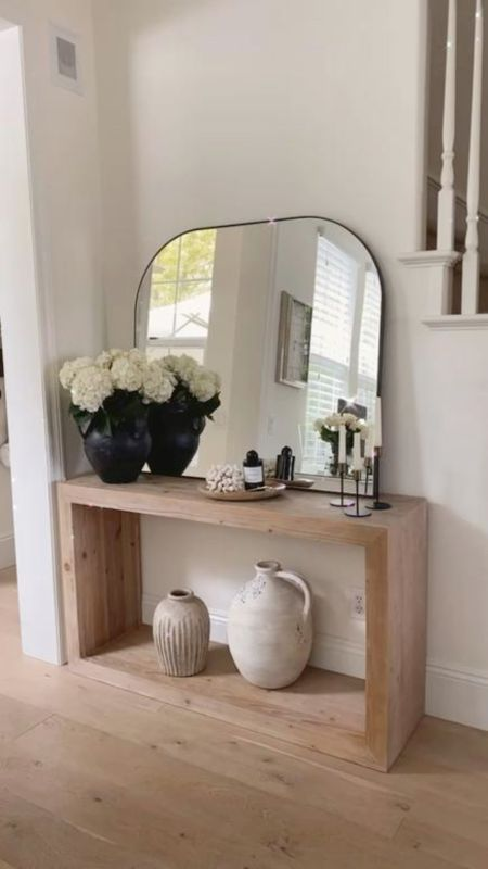 Console table, console decor, console styling, home decor, neutral home decor, simple home decor, StylinbyAylin   #LTKunder100 #LTKhome #LTKstyletip